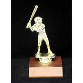 Sports Figure on Wood Base